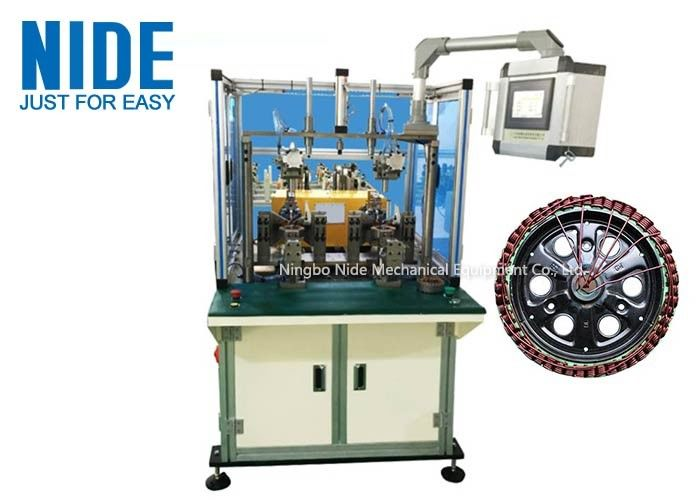 220v Power Electric Automatic Motor Winding Machine, Double Stations outslot flyer winding machine